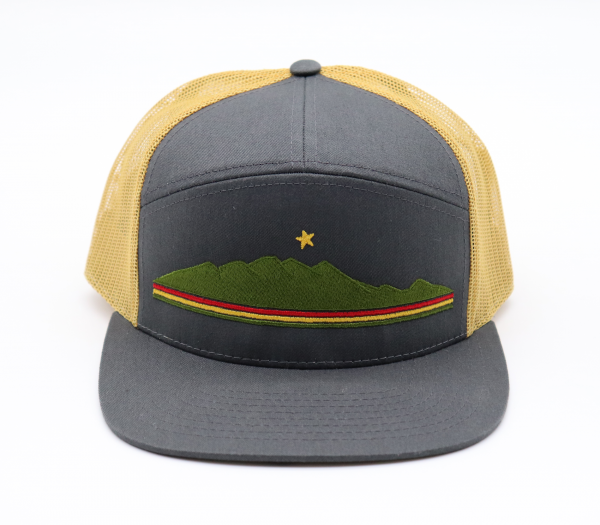 Ridgeline Snapback gold and gray front