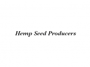 Hemp Seed Producers